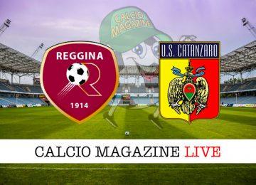 Reggina Catanzaro cronaca diretta live risultato in tempo reale