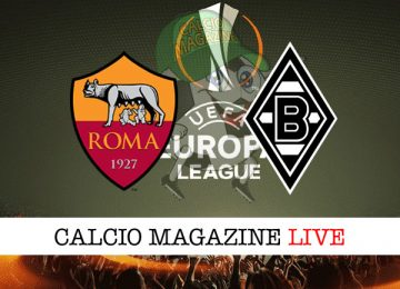 Roma Borussia Monchengladbach cronaca diretta live risultato in tempo reale