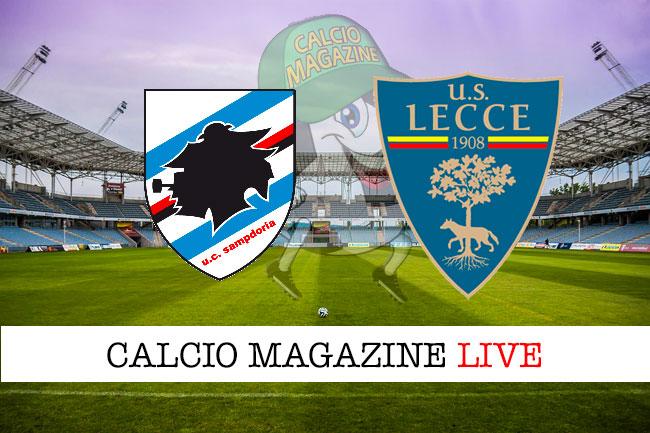 Sampdoria Lecce cronaca diretta live risultato in tempo reale