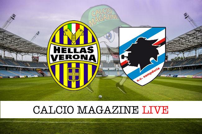 Hellas Verona - Sampdoria 2-0, il tabellino