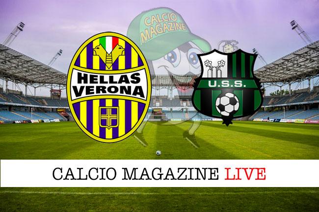 Verona Sassuolo cronaca diretta live risultato in tempo reale