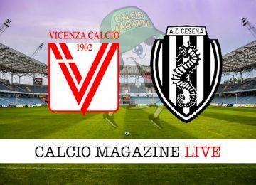 Vicenza Cesena cronaca diretta live risultato in tempo reale