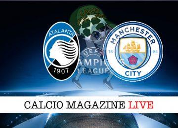 Atalanta Manchester City cronaca diretta live risultato tempo reale
