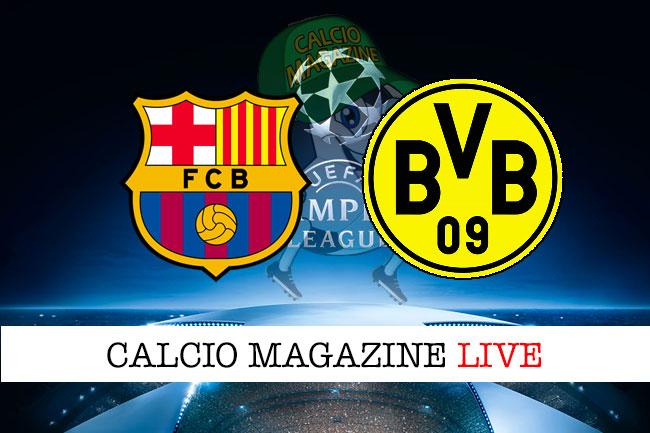 Barcellona Borussia Dortmund cronaca diretta live risultato in tempo reale