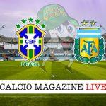 Brasile Argentina cronaca diretta live risultato in tempo reale