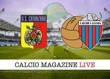 Catanzaro Catania cronaca diretta live risultato in tempo reale