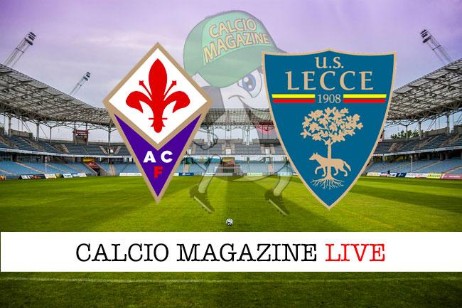 Fiorentina Lecce cronaca diretta live risultato in tempo reale
