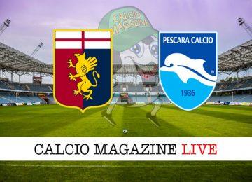 Genoa Pescara cronaca diretta live risultato in tempo reale