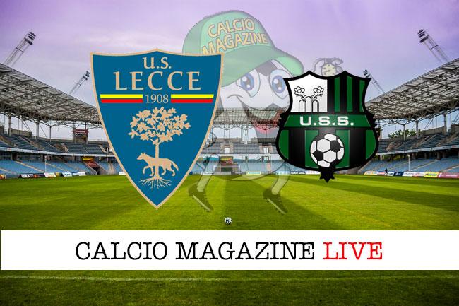 Lecce Sassuolo cronaca diretta live risultato in tempo reale