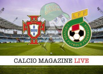 Portogallo Lituania cronaca diretta live risultato in tempo reale