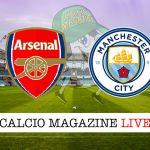 Arsenal Manchester City cronaca diretta live risultato in tempo reale