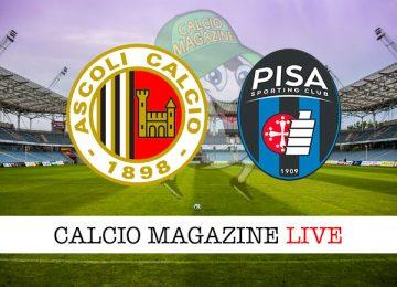 Ascoli Pisa cronaca diretta live risultato in tempo reale