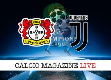 Bayer Leverkusen Juventus cronaca diretta live risultato in tempo reale