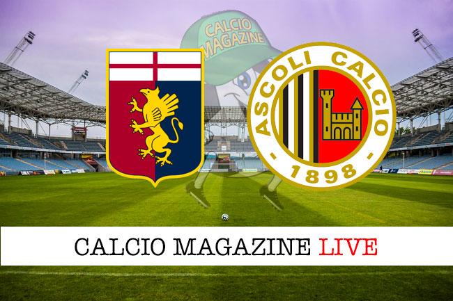 Genoa Ascoli cronaca diretta live risultato in tempo reale