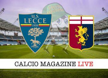 Lecce Genoa cronaca diretta live risultato in tempo reale