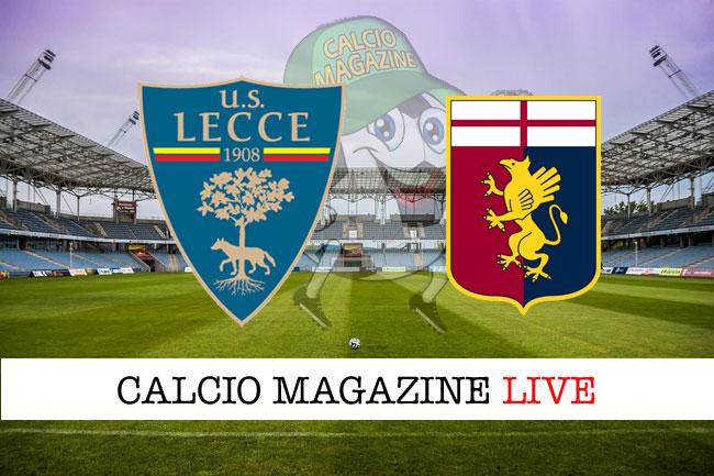 Lecce - Genoa, le formazioni ufficiali del match