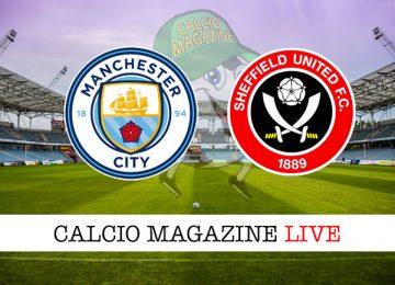 Manchester City Sheffield United cronaca diretta live risultato in tempo reale