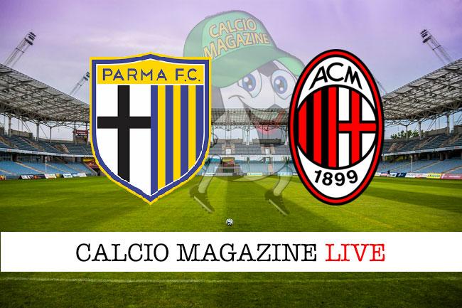 Pagelle Parma - Milan 1-3, highlights e voti fantacalcio