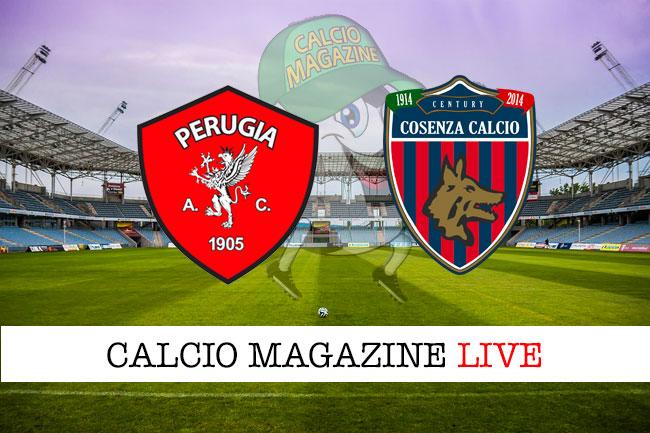 Perugia Cosenza cronaca diretta live risultato in tempo reale