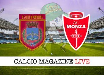 Pontedera Monza cronaca diretta live risultato in tempo reale