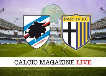 Sampdoria Parma cronaca diretta live risultato in tempo reale