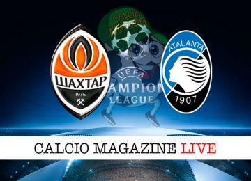 Shakhtar Donetsk Atalanta cronaca diretta live risultato in tempo reale