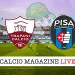 Trapani Pisa cronaca diretta live risultato in tempo reale
