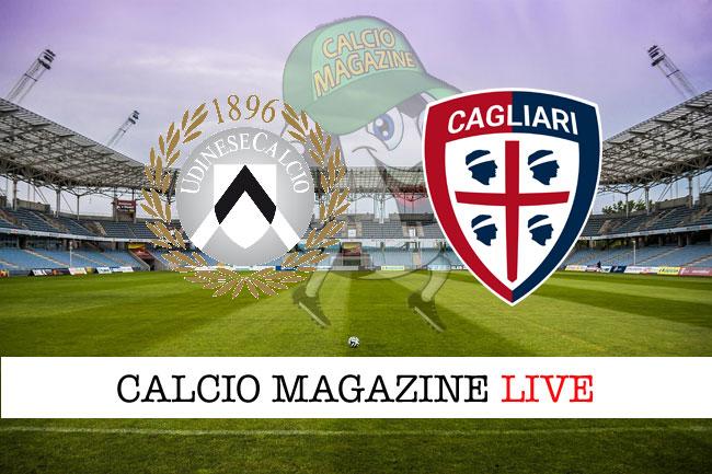 Udinese Cagliari cronaca diretta live risultato in tempo reale