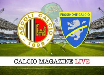Ascoli Frosinone cronaca diretta live risultato in tempo reale