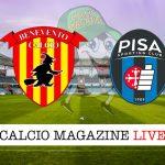 Benevento Pisa cronaca diretta live risultato in tempo reale