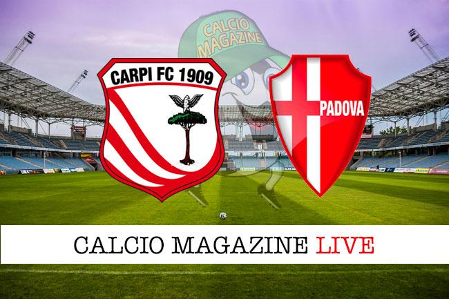 Carpi Padova cronaca diretta live risultato in tempo reale