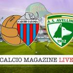 Catania Avellino cronaca diretta live risultato in tempo reale