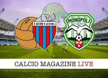 Catania Monopoli cronaca diretta live risultato in tempo reale