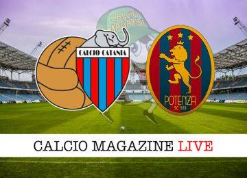 Catania Potenza cronaca diretta live risultato in tempo reale