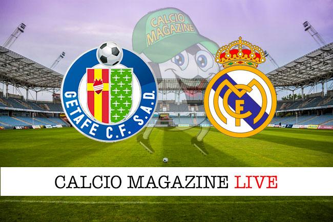 Getafe Real Madrid cronaca diretta live risultato in tempo reale