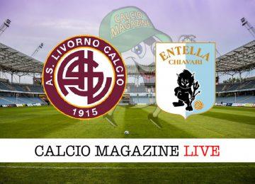 Livorno Virtus Entella cronaca diretta live risultato in tempo reale