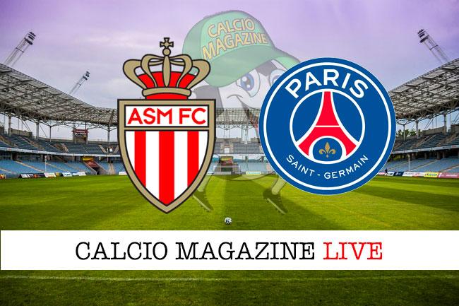 Monaco PSG cronaca diretta live risultato in tempo reale