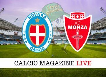 Novara Monza cronaca diretta live risultato in tempo reale