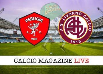 Perugia Livorno cronaca diretta live risultato in tempo reale