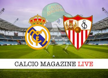 Real Madrid Siviglia cronaca diretta live risultato in tempo reale