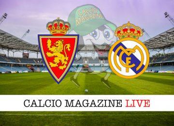 Real Saragozza Real Madrid cronaca diretta live risultato in tempo reale