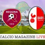 Reggina Bari cronaca diretta live risultato in tempo reale