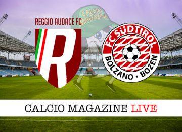 Reggio Audace Sud Tirol cronaca diretta live risultato in tempo reale
