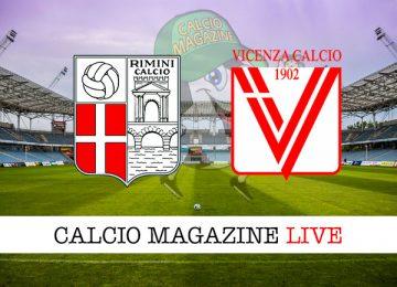 Rimini Vicenza cronaca diretta live risultato in tempo reale