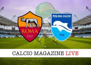 Roma Pescara cronaca diretta live risultato in tempo reale