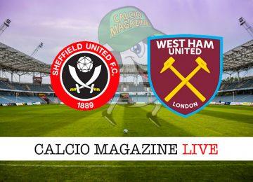 Sheffield United West Ham cronaca diretta live risultato in tempo reale