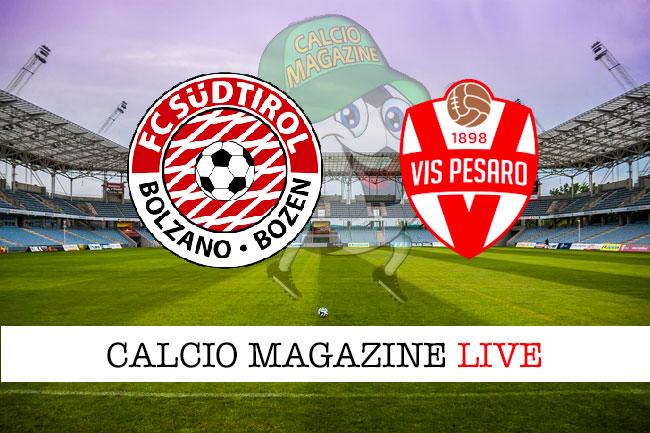 Sud Tirol Vis Pesaro cronaca diretta live risultato in tempo reale
