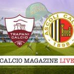 Trapani Ascoli cronaca diretta live risultato in tempo reale