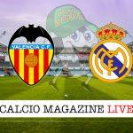 Valencia Real Madrid cronaca diretta live risultato in tempo reale