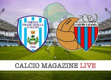 Virtus Francavilla Catania cronaca diretta live risultato in tempo reale